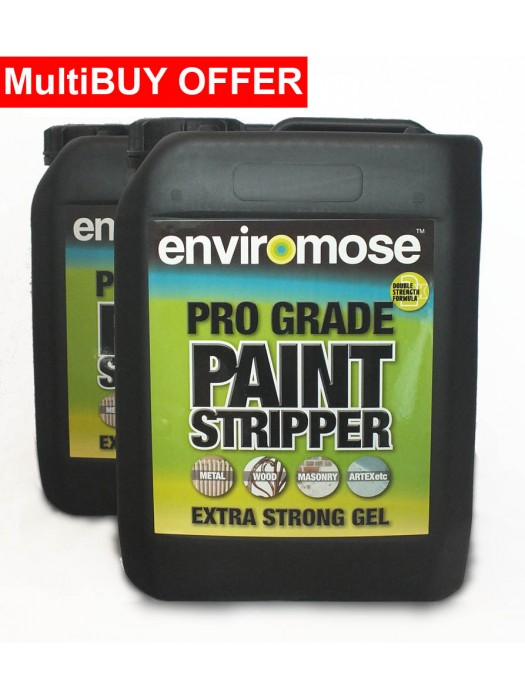 Enviromose Pro Grade Paint Stripper Extra Strong Gel - 5 Litres - MULTI BUY
